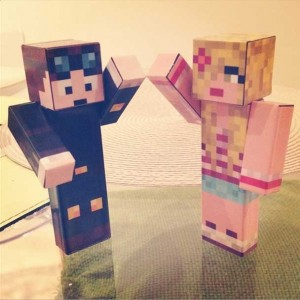 DanTDM and JemPlaysMC in Minecraft skin