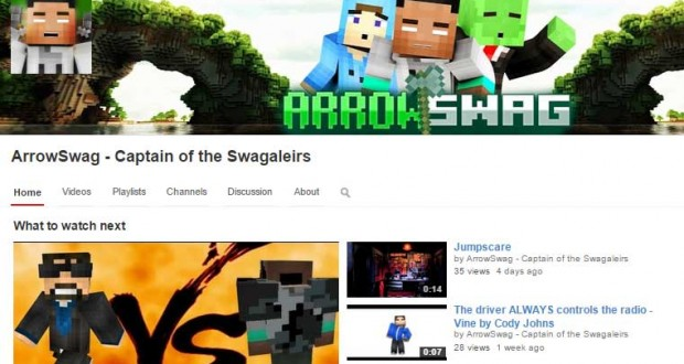 arrowswag youtube channel page